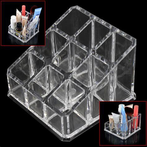 Promo Promo Box Akrilik Box Acrylic Box Display Figure Kotak Ka clear acrylic 9 grids makeup organizer brush lipstick