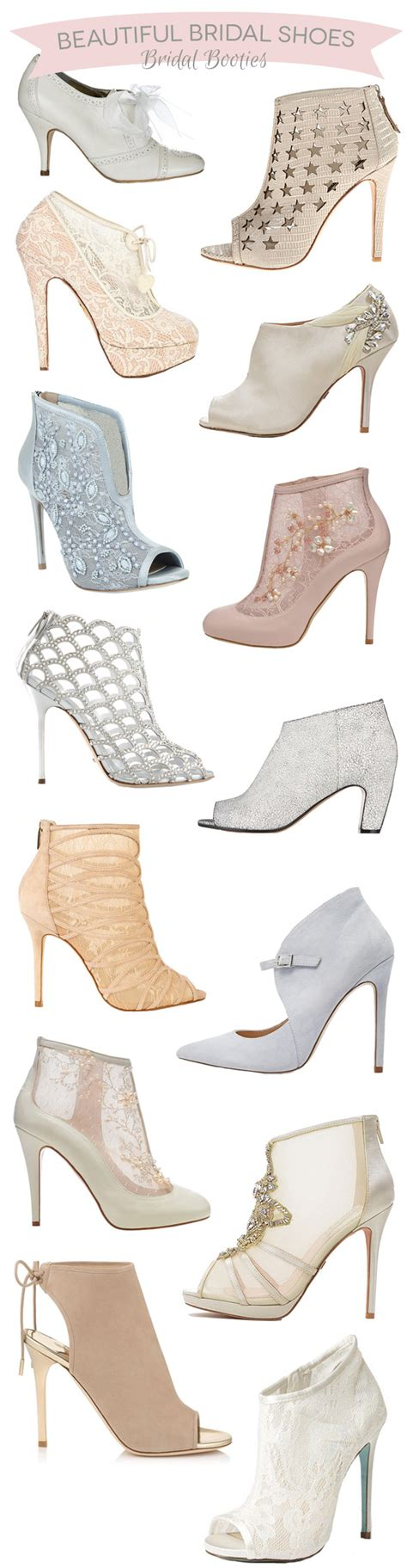 Bridal Bootie Shoes by 14 Bridal Booties The Wedding Shoe Of 2015 Onefabday