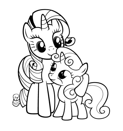 baby rarity coloring pages my little pony rarity with a baby pony