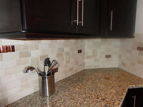 ceramictec 2 215 4 tumbled travertine back splash with glass