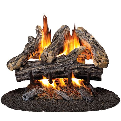 gas fireplace inserts lowes shop procom 19 8 in w 16 in w 45 000 btu dual vented gas fireplace logs at lowes