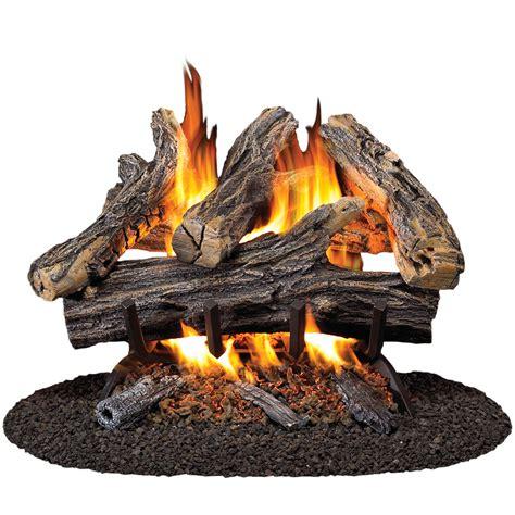 Gas Fireplace Logs Lowes shop procom 19 8 in w 16 in w 45 000 btu dual vented gas
