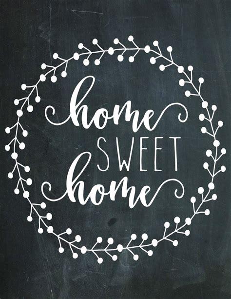 home sweet home chalkboard printable