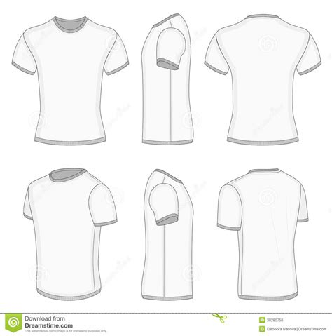 Men S White Short Sleeve T Shirt Stock Vector Illustration Of Wear Waistband 38280756 Sleeve T Shirt Design Template
