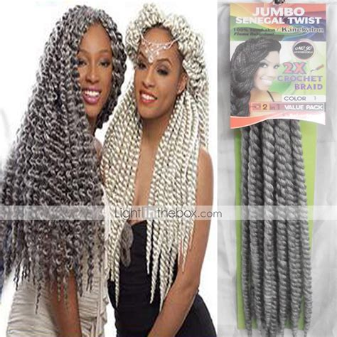senegalese twists for gray hair grey havana twist braids hair extensions 24inch kanekalon