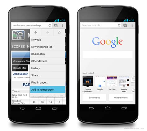 android browsers chrome for android beta brings homescreen bookmarks and new tab page