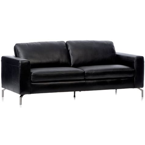 Natuzzi Black Leather Sofa Natuzzi Rovigo Black Italian Leather Metal Leg Sofa Italian Leather Products And Leather Sofas