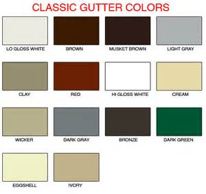gutter colors custom color selection