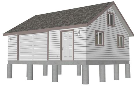 16 X 30 Garage Plans 16 x 20 garage plans 16 x 30 garage plans cabin house