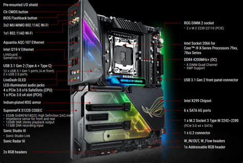 Asus Rog Rage Vi Lga 2066 X299 Ddr4 asus releases rog rage vi x299 motherboards mainboard news hexus net