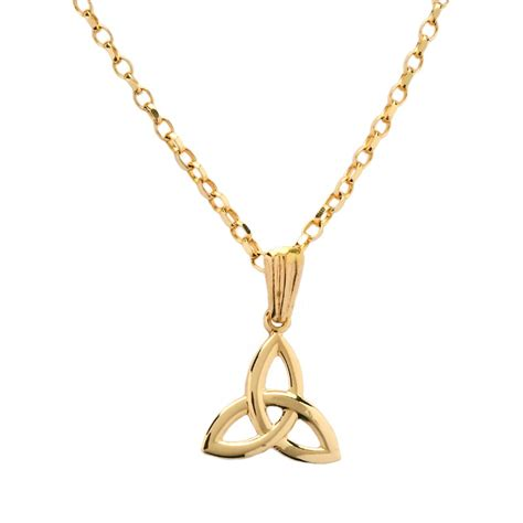 small yellow gold knot pendant celtic necklaces