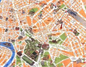 detailed travel map of rome city center rome city center