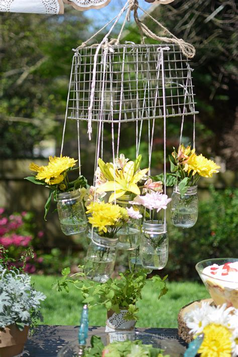 Garden Decoration Jar by Hanging Jar Flower Chandelier All Things And