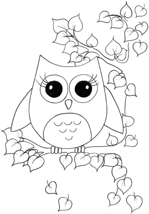 Origami Owl Colors - sweetheart owl coloring page for kiddos at my origami