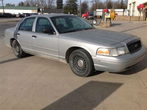 manual cars for sale 2001 ford crown victoria electronic valve timing sell used 2001 ford crown victoria police interceptor silver 107k in armada michigan united states