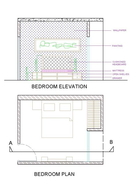 elevation of bedroom 2d house elevation designs in autocad on behance