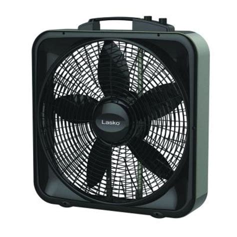 lasko weather shield select 20 in 3 speed box fan with