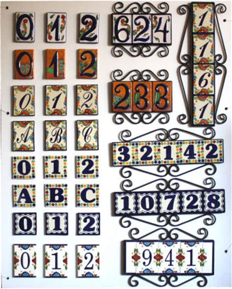 tile house numbers spanish tile numbers tile design ideas