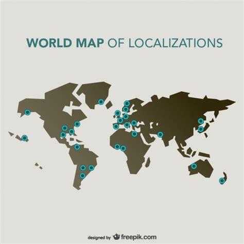 world map vector ai free world map of localizations vector free