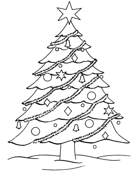 christmas tree clipart coloring page free coloring pages christmas tree coloring pages