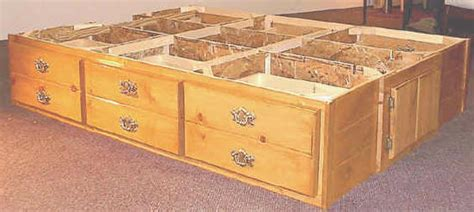 Waterbed Frame With Drawers by Pedestal Options For Wooden Frame Waterbeds