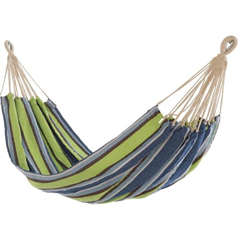 Cotton Hammock Castaway 10 Ft Cotton Bag Hammock In Blue Green Stripe Bg