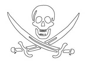 Pirate Skull And Crossbones Printable Free Coloring Pages sketch template