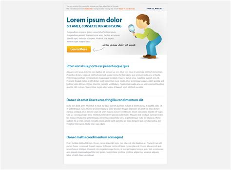 free html newsletter templates for email html email newsletter templates free