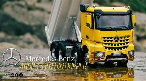 rc truck mercedes benz arocs   kipper  road