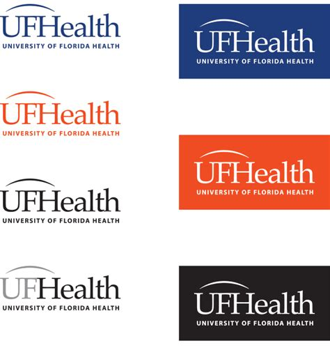 uf colors uf health logo color variations 187 creative services 187 uf