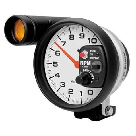 autometer tach with shift light autometer phantom tachometer w shift light 5 quot 5899