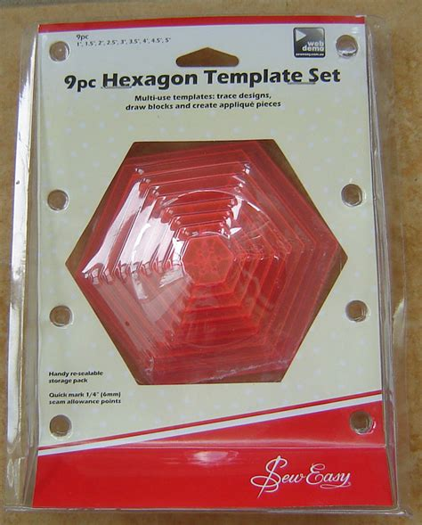hexagon template for quilting hexagon template hexagon templates quilting sewing by