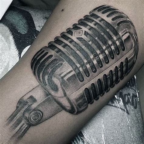 microphone tattoo designs for men 90 microphone designs for manly vocal ink