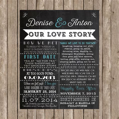 Wedding Story by Wedding Story Sign Our Story Chalkboard Wedding