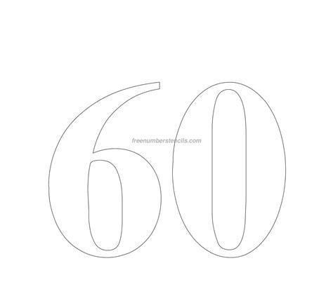 number stencil templates number 60 template images
