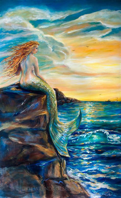mermaid painting mermaid new smyrna inlet
