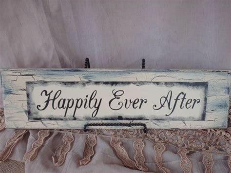 wedding signs shabby chic happily ever shabby chic