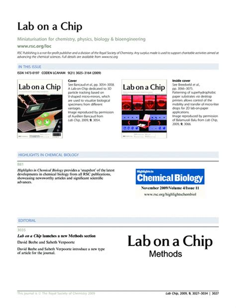 lab on a chip template contents and highlights in chemical biology lab on a