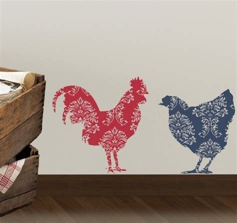 rooster decals for kitchen items similar to country rooster and chicken vinyl wall decal kitchen wall decal farmhouse