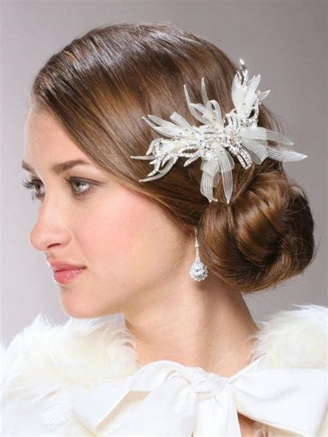 white wedding hairstyles white wedding hair comb with crystal branches 2045616