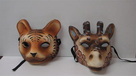 Mask Paper Mache - masks animal