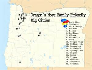 oregon county map with major cities how family friendly are oregon s 20 cities