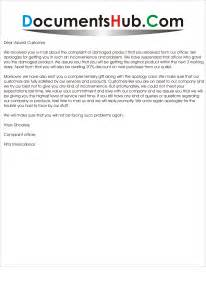 Reply Complaint Letter Customer Service Apology Letter In Response To Customer Complaint