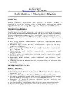 resume d white benefits administration