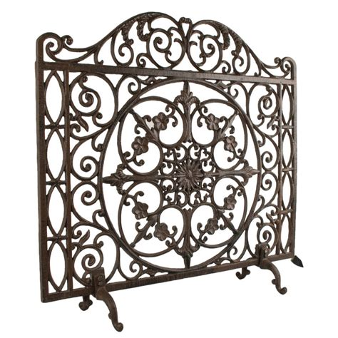 Cast Iron Fireplace Screen by Footed Ornate Cast Iron Screen By Dibor Notonthehighstreet