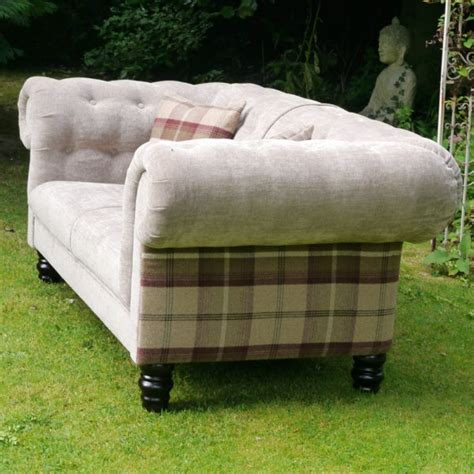 tartan sofa uk cream sofa with tartan back finish l classic traditional