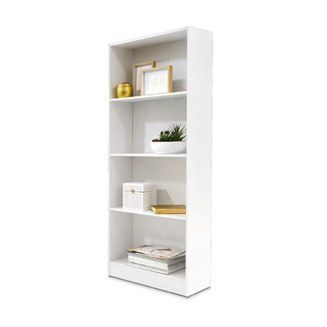 4 tier bookshelf white kmart