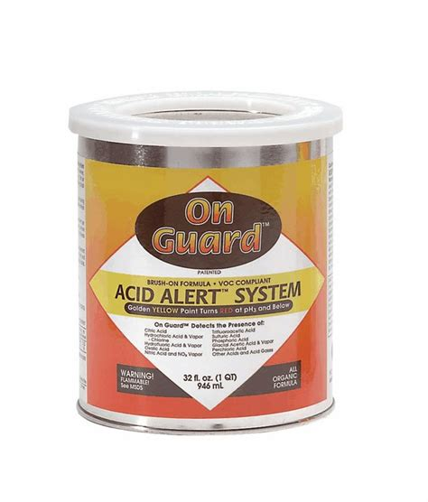 on guard acid detecting paint quart from cole parmer united kingdom