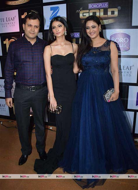 shweta tiwari mother palak tiwari and shweta tiwari at zee gold awards red