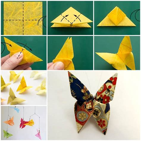 How To Make Beautiful Origami - diy beautiful origami butterfly